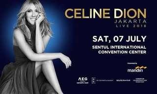 Celine Dion's Concert Ticket, Gold A, 7 July 2018