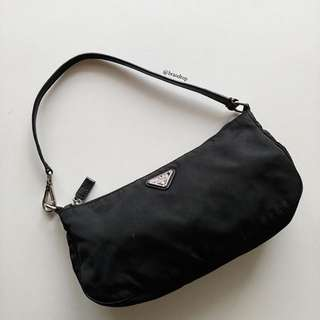 Authentic Prada Black Nylon Handbag