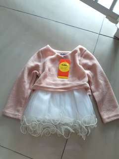 Peach Dress for baby