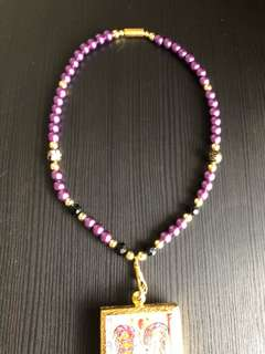 Purple Amulet Necklace