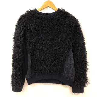 Stella mccartney black shearling style sweater size 38