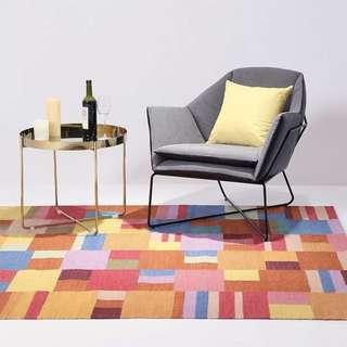 🚚 印度進口客廳地毯羊毛棉臥室床尾滿鋪房間床邊茶几沙發地墊幾何