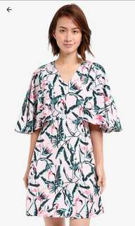 Summer Flamingo Midi Dress
