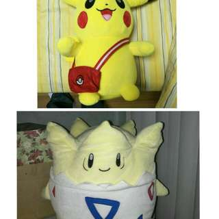 Pokemon plush dolls