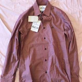 Vivienne Westwood striped shirt 男裝間條恤衫