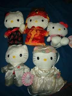 Hello kitty Mcdonald 1999 stuff toys 5 pcs