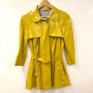 Willow yellow polyester waterproof jacket size UK8