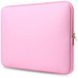 Pink Waterproof PU Leather Laptop Sleeve Bag For 11inch Laptop