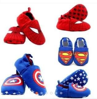 Shoes Slip Ons AntiSlip Superman Spiderman