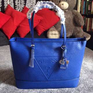 Authentic Guess Tote Bag Blue (bag only)