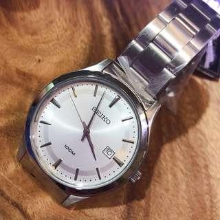 SEIKO 精工 SUR047P1 簡約時尚 不鏽鋼錶帶