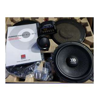 (包安裝) $1450 魔雷 Morel Maximo 分音二路套裝 喇叭 6.5吋 高音+分音盒+低音
