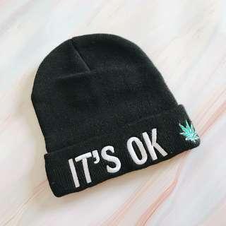 🚚 Holy-S It's ok 黑色毛帽