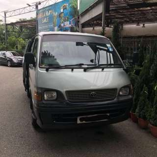 TOYOTA HIACE FOR RENTAL