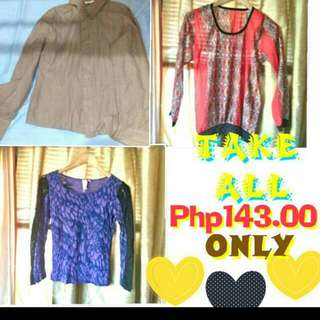 Ladies Blouse TAKE ALL 3 FOR 99 REPRICED