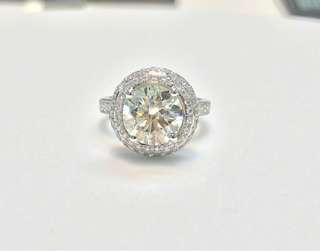 3.51cts RD K SI2 18K Ring