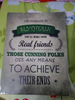 🚚 Harry Potter Slytherin Poster