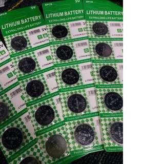 HK$12/5PCS ~ 全新獨立包裝 CR2020 CR2016 扭型鋰電池 大廠出品 3V 多種電子產品合用 New CR2020 CR2016 Lithium Battery 3V In Good Quality