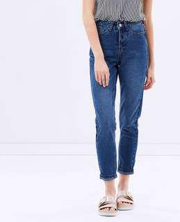 Dark Blue Mom Jeans - Size 28