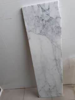 EUROPE Solid Marble Slab 1 piece only👍Beautiful grain 👍 White marble