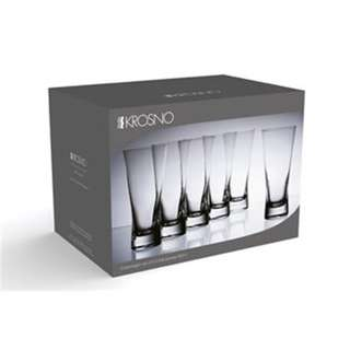 Krosno Copenhagen 360ml Hi-Ball Glass Set of 6