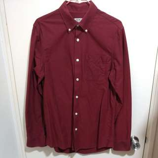 Jack Wills oxford red wine shirt JW 酒/深紅色 裇衫