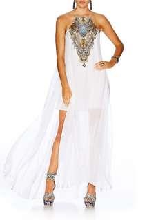 Camilla short sheer overlay dress