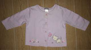 Purple button sweater