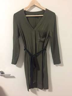 Top Shop Khaki shirt dress