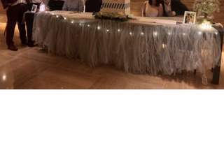 Wedding Reception Table Tulle skirting