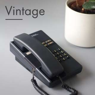 BLACK VINTAGE - Beautiful Desk Phone by Telecom Equipment