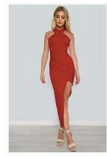 Honey Peaches red formal dress