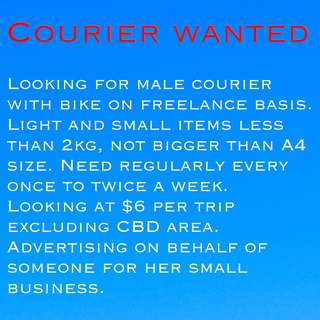 Courier Rider Wanted