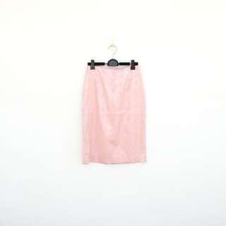 🚚 二手 粉紅 蛇紋 亮面 高腰 短裙 明太子 625