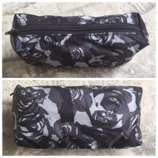 BN Customised Pouch Black Petals