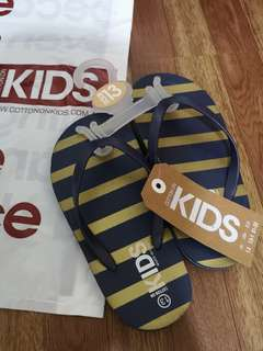 AUTHENTIC COTTON ON Slippers for Kids (Stripes)