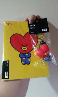 BT21 Figure Key Ring with Notebook SET