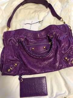 Balenciaga Bag 紫色金釘