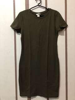 H&M - Army Green Bodycon Dress