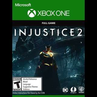 Injustice 2 Xbox One Digital Download Code