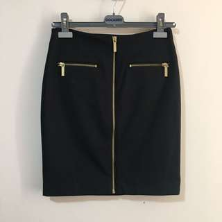 BNWT Michael Kors 2 Pencil Skirt with Gold Zippers