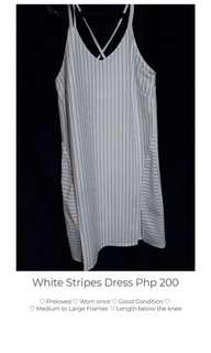 White Stripped Dress