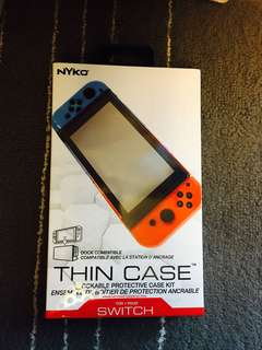 (NEW & UNUSED) NYKO Thin Case for Nintendo Switch + Tempered Glass