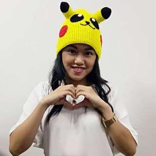 Crochet Pikachu Beanie