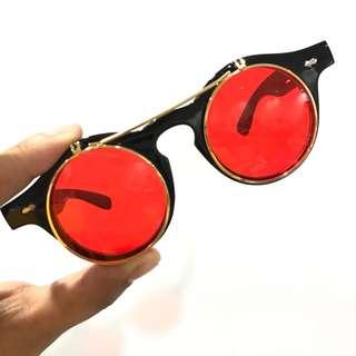 Flip up sunnies/sunglasses/shades