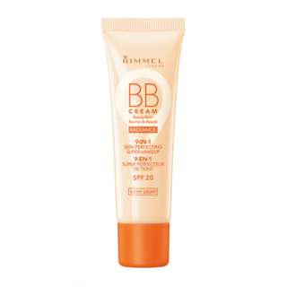 Rimmel Wake Me Up Radiance BB Cream 9-in-1 Skin Perfecting Super Makeup SPF 20, Light