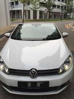 Volkswagen Golf cabriolet for rent