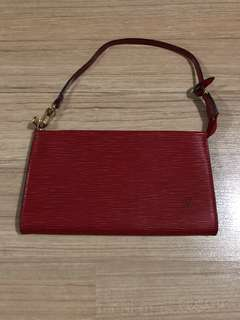 Authentic LV EPI Leather Pochette