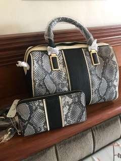 Charming Charlie Bag and Wallet Set