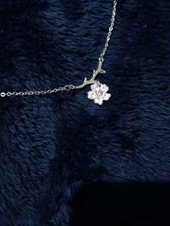 Sakura Silver Necklace